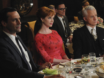 Picture showing Don, Joan and Roger in Mad Men