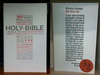 picture of the new international version book cover, compared with the thomas a kempis book cover for the inner life