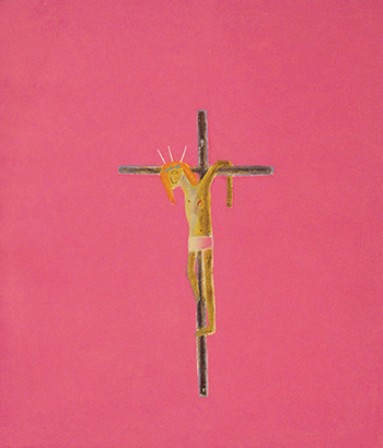 picture showing pink crucifixion by craigie aitchison