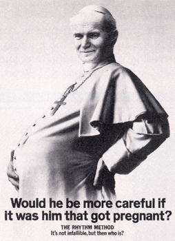 pregnant pope advert