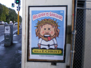 Picture of religion is garbage poster