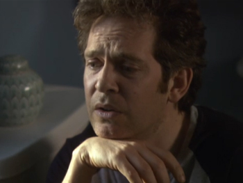 Revrened Adam Smallbone (played by Tom Hollander) has a crisis of faith... in the loo