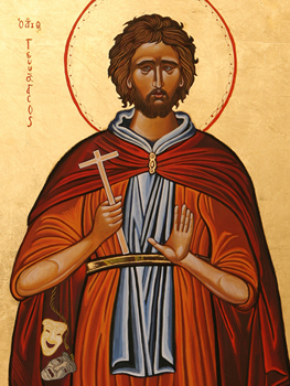 picture of the icon of st genesius