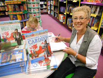 picture of book signing at waterstones cardiff