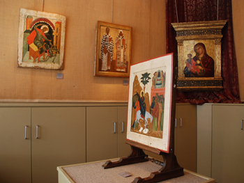picture showing icons in the exhibition