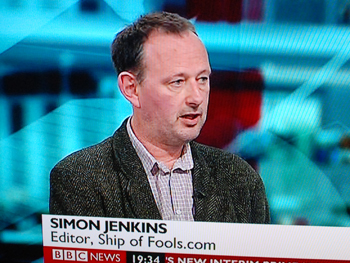 Photo of Simon on BBC News
