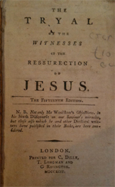 Picture of the title page of The Tryal of the Witnesses