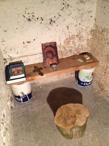 Photo of my cellar prayer corner