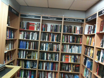Photo of the Christianity corner in Foyles