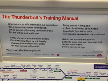 Photo of poem on the underground