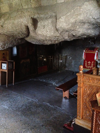Photo of the Cave of the Apocalypse on Patmos