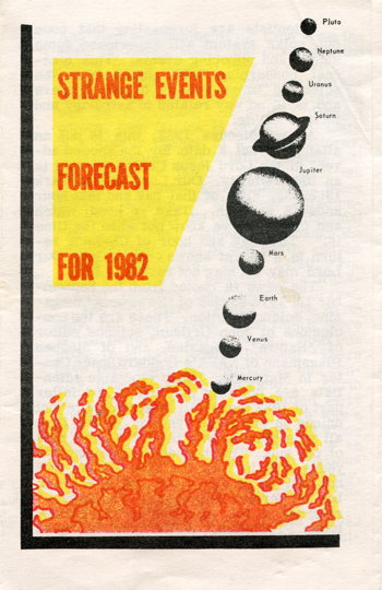 Cover of the tract Strange Events Forecast for 1982
