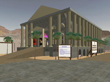 temple in second life