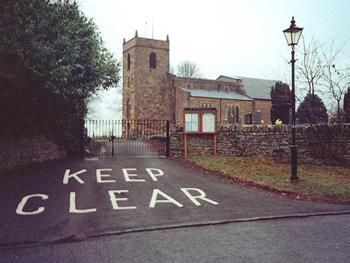 keep clear of church