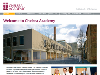chelsea academy homepage