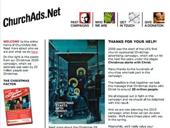 churchads.net homepage