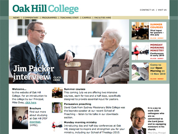 oak hill college homepage